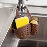 Matoen(TM) Sink Storage Dish Drying Rack Holder Drainer Kitchen Bathroom Storage Bag (Coffee)