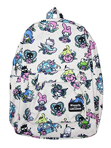 Loungefly x Sanrio Hello Kitty Characters Tattoo Allover-Print Nylon Backpack (Multicolored, One Size) -