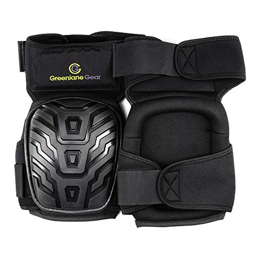 Gel Knee Pads for work designed to prevent slipping/sliding for gardening, construction, floor, tiling - Industrial grade heavy duty flexible kneepad- soft kneepads fits all (small-large) men/women by Greenlane Gear (Image #1)