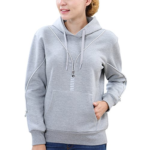 BELEROY Christmas Women's Sweatshirts with Pocket,Fashion Pullover Girls Hoodies with zipper