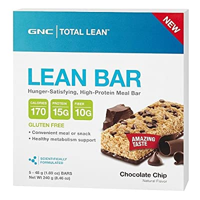 GNC Total Lean Lean Bar Chocolate Chip 5 bars