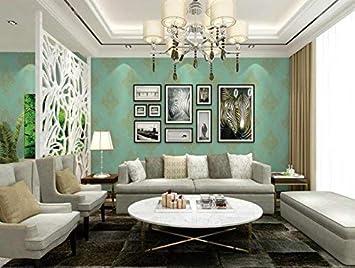 Eurotex Delhidirect Damak Design Pvc Wallpaper 1 Roll57 Sq Ft 53 X1000cm Green
