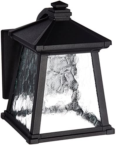 Progress Lighting P5906-31 Craftsman Mission One Light Wall Lantern from Mac Collection in Black Finish