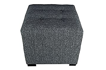 MJL Furniture Designs Upholstered Cubed Square Olivia Series Ottoman, 17 x 19 x 19 , Charcoal