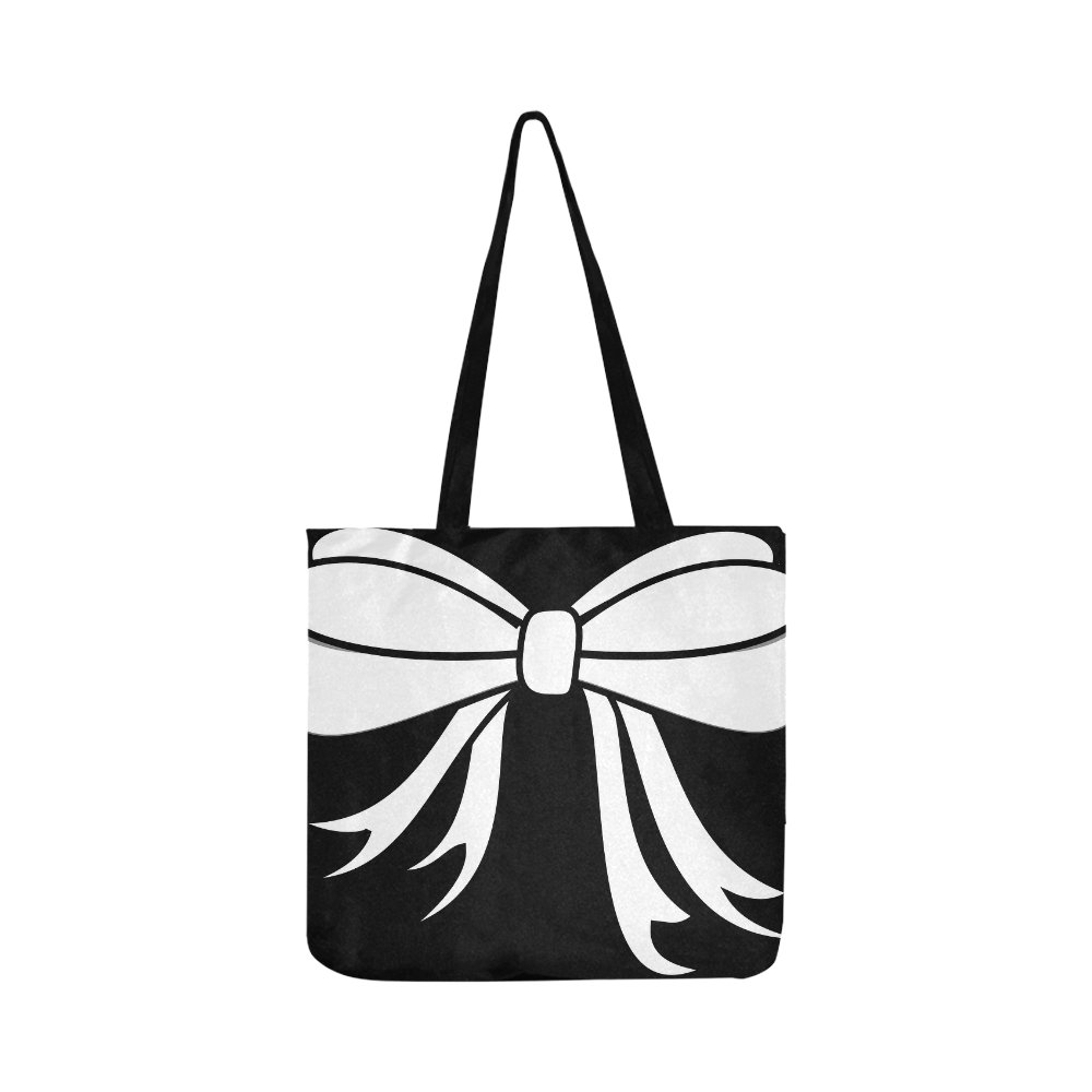 412fa3550 Amazon.com: Bow Ribbon Decoration Ornate Tie White Knot Canvas Tote Handbag  Shoulder Bag Crossbody Bags Purses For Men And Women Shopping Tote: Shoes