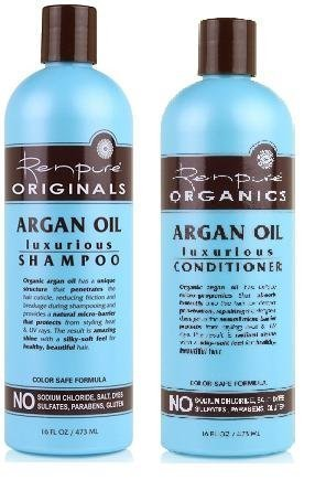 Renpure Organics Argan Oil Shampoo & Conditioner 16 oz (Pack of 2)
