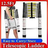 ZhanGe 3.8M/12.5ft Telescopic Telescoping Ladder Multi-Purpose Ladder Folding Ladder Articulated Ladder 13 rungs Aluminum Ladder Multi-Function Ladder Combi Ladder Tall Loft Ladder Made of Aluminum