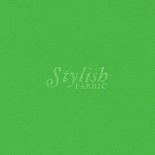 Kelly Green Solid Poly Poplin Fabric By The Yard - 1 Yard by Stylishfabric   B00MHZY9Z8