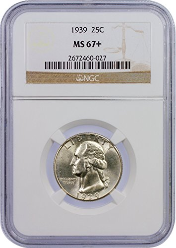 1939 P Washington Quarter Quarter MS-67+ NGC