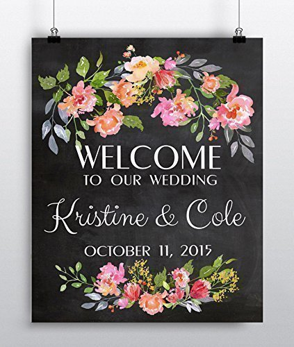 Amazon custom wedding sign personalized welcome wedding custom wedding sign personalized welcome wedding sign wedding gift wedding decor junglespirit