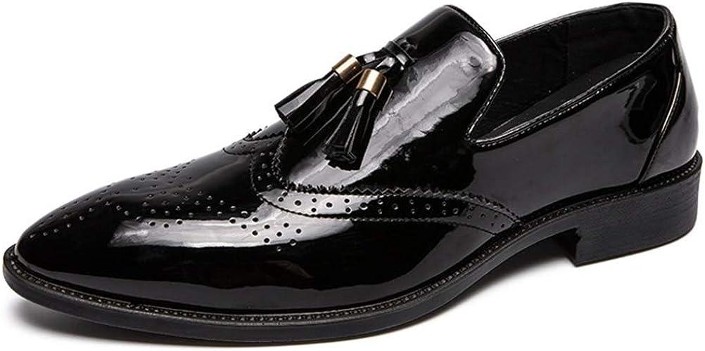 Men Formal Shoes Tassel Leather Slip on