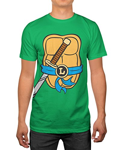 TMNT Teenage Mutant Ninja Turtles Mens Leonardo Costume T-shirt S