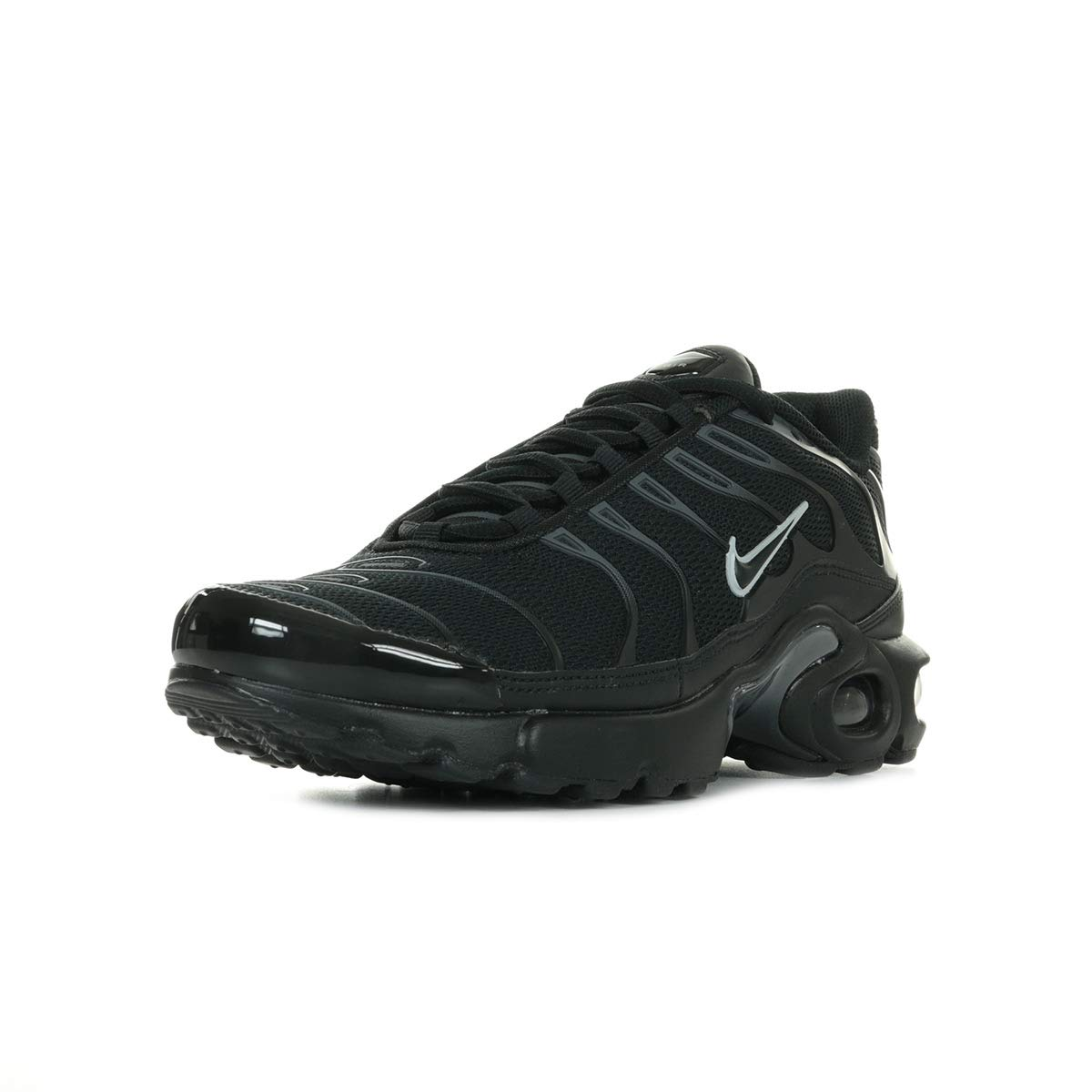 Nike Air Max Plus GS Tn Tuned 1 Trainers 655020 Sneakers scarpa (UK 4.5 us 5Y EU 37.5, Black Pure Platinum 053)