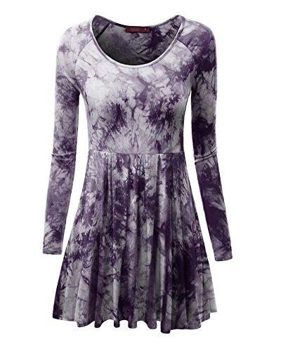 Langarm plissee kleid stylische kleider f r jeden tag - Plissee kleid lang ...