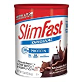 Slim Fast Original weight loss Meal Replacement shake mix powder with 10g of protein and 4g of fiber plus 24 Vitamins and Minerals per serving, Rich Chocolate Royal,  Pack of 3