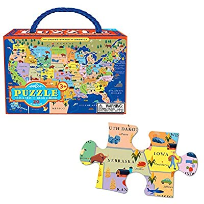 United States 20 Piece Puzzle By Eeboo
