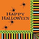 18-Count Paper Lunch Napkins, Halloween Spooky Spiders