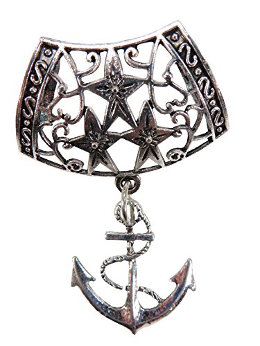 nautical anchor pendant slide tube set craft scarf jewelry Tube Slide Pendant