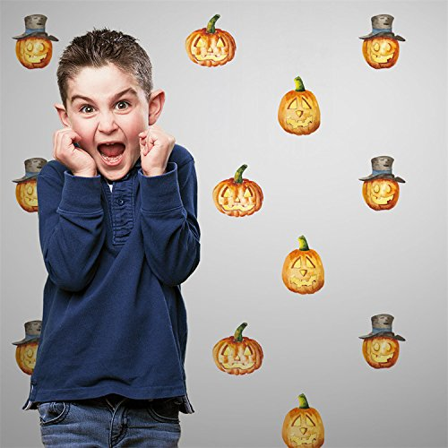 VancyTop Halloween Funny Pumpkin Pattern Wall Stickers for Children's Room Nursery Party Home Decorations 24pcs/set (Furniture Sets Uk Nursery Modern)