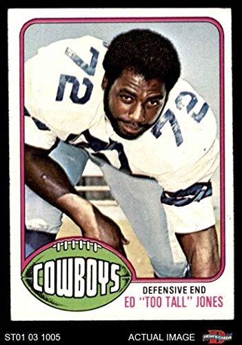 1976 Topps # 427 Ed Too Tall Jones Dallas Cowboys (Football Card) Dean's Cards 5 - EX Cowboys ()