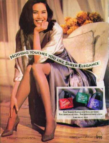 - Nothing touches you like Sheer Elegance L'eggs pantyhose ad 1992