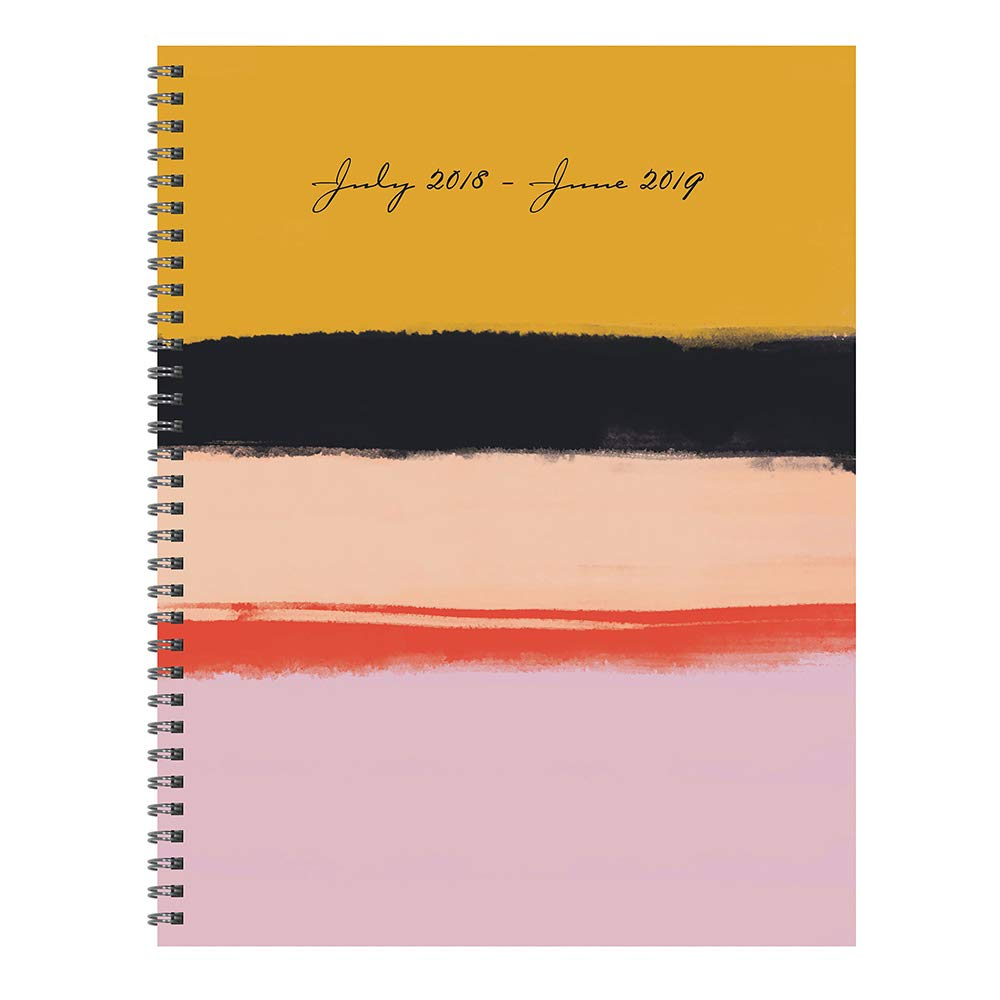 tf publishing 19 9713a july 2018 june 2019 stripes large weekly monthly planner 9 x 11 gold pink black