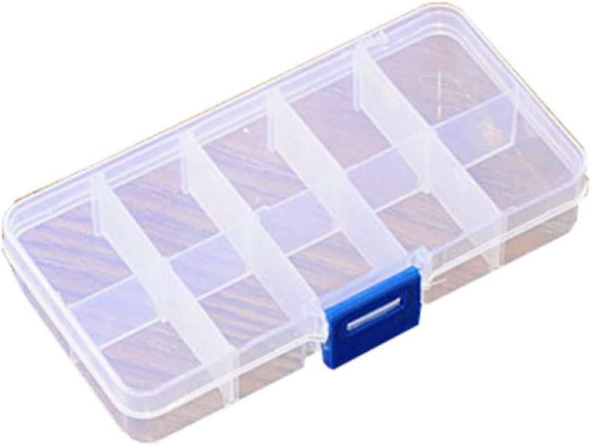 Molyveva Mini Portable Travel Pill Organizer with Moisture-Proof Design and 10, 15, 24 Compartments to Hold Vitamins, Supplements and Medication (10 Compartments)
