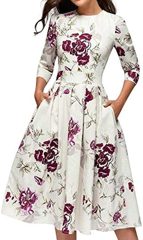 Lurcardo Vestidos de Fiesta Mujer, Vestidos Mujer Casual Verano ...