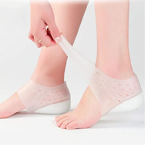 2pcs U-Shape Heel Pads Foot Heel Cup Pain Relieve Semi-mat Soft Silicone Insoles