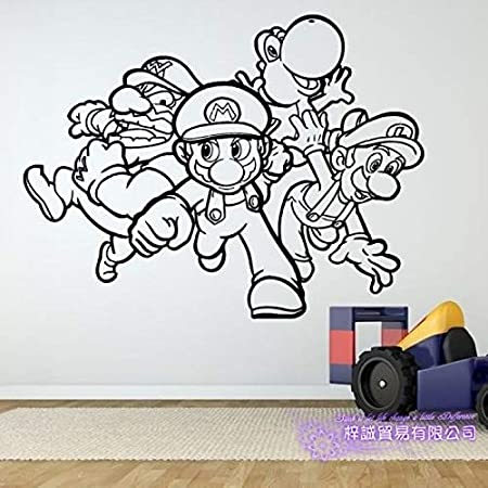 zxddzl Super Mario Etiqueta de Videojuego Juego Juegue Sala de ...