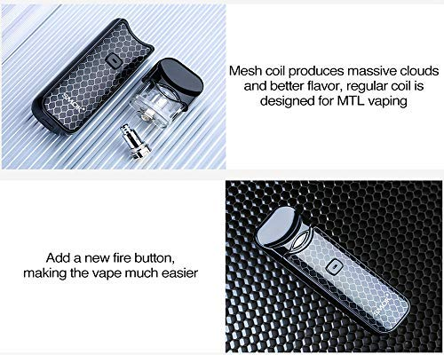 SMOK Nord Pod Starter Kit 1100mAh incorporado MTL Vaping Pod System Kit ecig vapeonly Bolsa sin nicotina no tabaco (negro completo) (Resina azul y ...