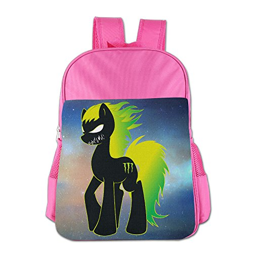 JXMD Custom Anger Horse Teenager School Bagpack For 4-15 Years Old Pink