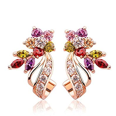 e2ed5304e4c35 Valentine Gifts : YouBella Jewellery Valentine Collection AAA Swiss Zircon  Fancy Party Wear Earrings for Girls and Women