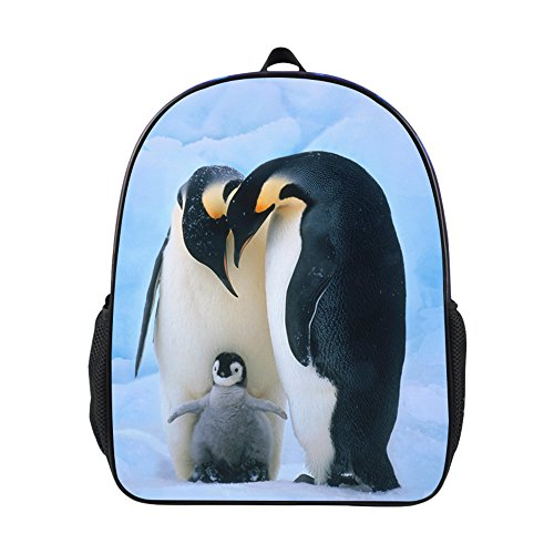Cool 3D Animals Children School Book Bag Kids Penguin Printing Backpacks (YHI-204)