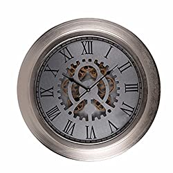 A&B Home Hereford Wide-Framed Round Wall Clock