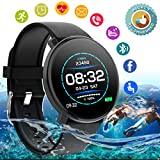 Smart Watch,Fitness Watch Activity Tracker with Heart Rate Blood Pressure Monitor IP67 Waterproof Sports Fitness Tracker Watch Smart Bracelet Wristband for Android iOS Phones Men Women Kids