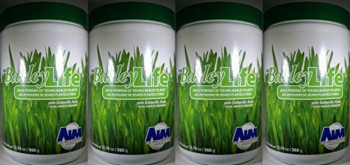 AIM BarleyLife - Family Size (12.7 oz) Barley Grass Powder (Four Pack) by AIM BarleyLife