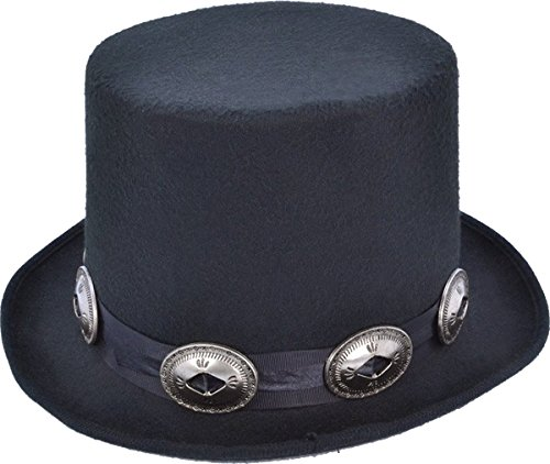 Adult Men's 1980's Top Fancy Dress Party Slash Rocker Style Hat With Buckles by Bristol Novelty