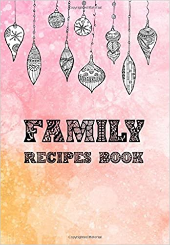 family recipes book blank cookbook journal notebook recipe keeper
