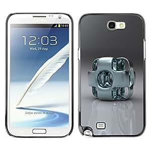 TECHCASE**Cubierta de la caja de protección la piel dura para el ** Samsung Galaxy Note 2 N7100 ** Abstract Metal Art