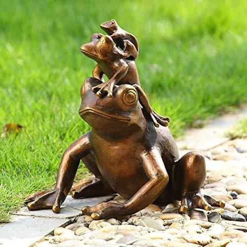 Piggyback Frogs Trio Garden Sculpture