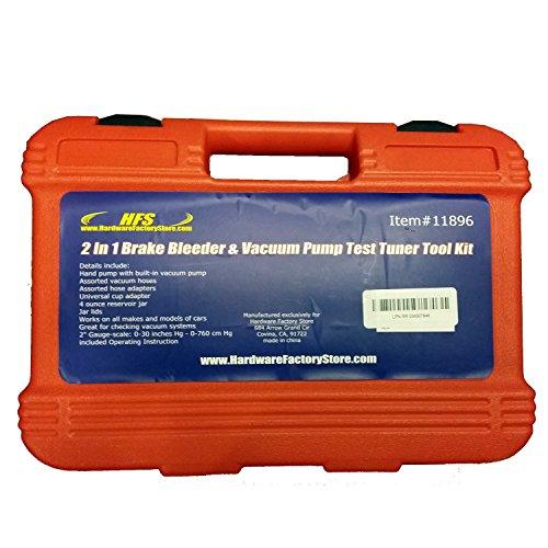 HFS R 2 in 1 Brake Bleeder & Vacuum Pump Test Tuner Tool Kit New