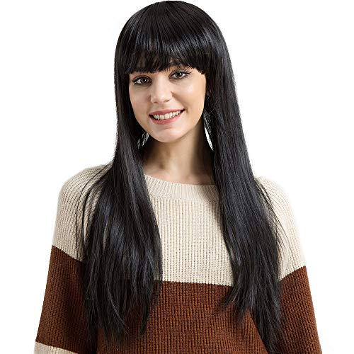 Nicki Minaj Kids Costumes - TopWigy Women Long Straight Wig Black