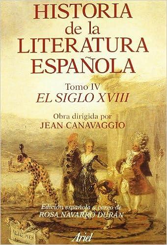 Historia literatura española. El siglo XVIII Ariel Letras: Amazon ...