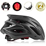 Shinmax Bike Helmet, CPSC Certified Adjustable Lighted Bike Helmet Specialized Cycling Helmet Men&Women With Visor&Rear Light
