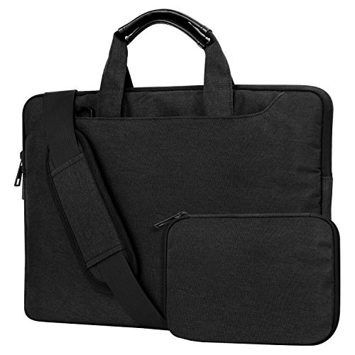 MoKo 13-13.5 Laptop Carrying Shoulder bag - Protective Cover Case Premium Nylon Sleeve with Hand & Shoulder Strap for MacBook Air 13
