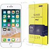 AMXII iPhone 8 7 6s 6 Tempered Glass Screen Protector(9H Hardness Anti-Explosion and Scratch-Resistant),Transparent High-Definition,0.26 mm Thickness,Touch Sensitive[2 Pack,Including Cleaning Suits]