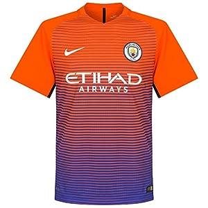 Nike Men's Manchester City Third Stadium Soccer Jersey 2016/2017 (Medium) Safety Orange, Persian Violet