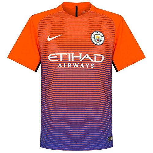 Nike Men's Manchester City Third Stadium Soccer Jersey 2016/2017 (Large) Safety Orange, Persian Violet (Toddler Manchester City Jersey)