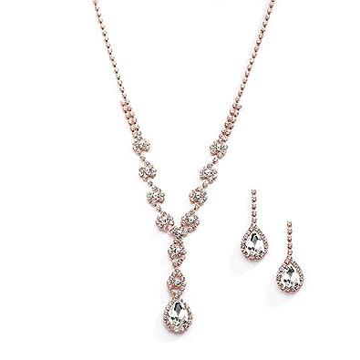 Amazon.com  Mariell Sparkling Blush Rose Gold Crystal Rhinestone ... 0a8ec8138531